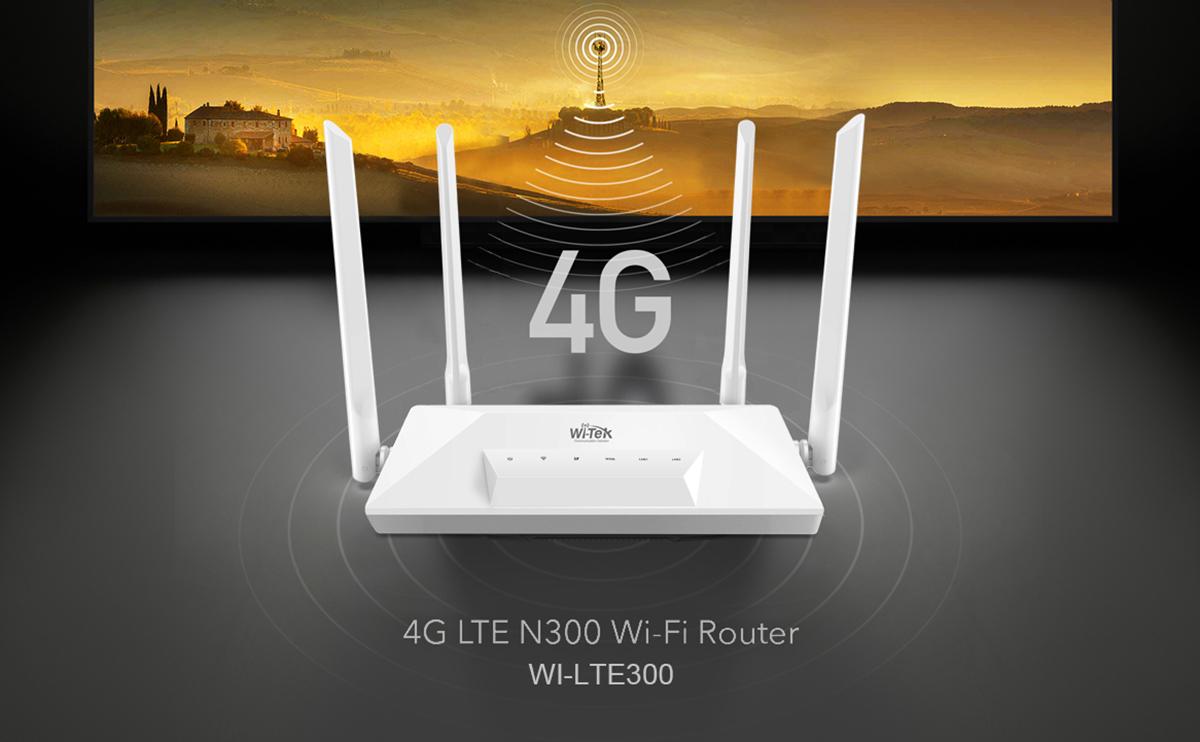 Conexión 4G con WI-TEK WI-LTE300